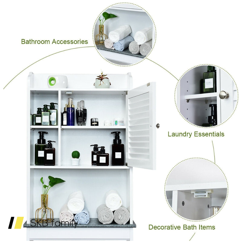 Bathroom Over-The-Toilet Space Saver With Adjustable Shelves 200815-23719