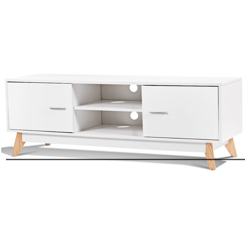 Entertainment Center Console Cabinet Tv Stand With 2 Doors 200815-23743