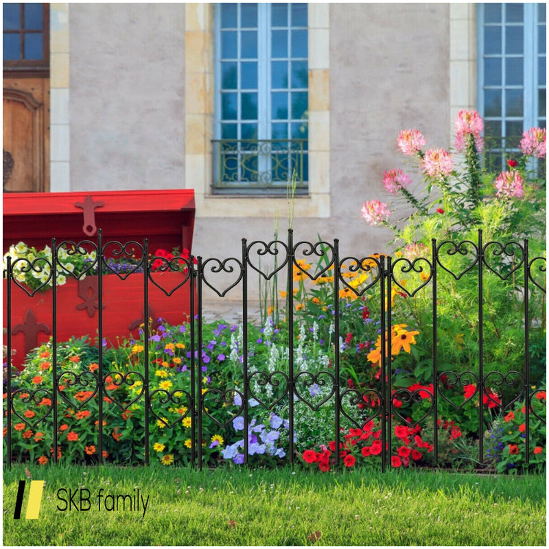 27 In X 6.5 Ft Folding Decorative Garden Fence 200815-23746