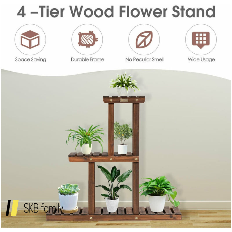 Wood Plant Stand 3-Tier Plant Pot Holder 200815-23747