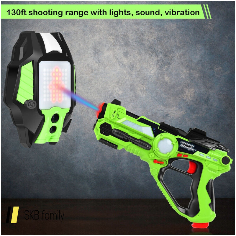 4 Pcs Set Laser Tag Guns With Vests Led Target Armor 200815-23748