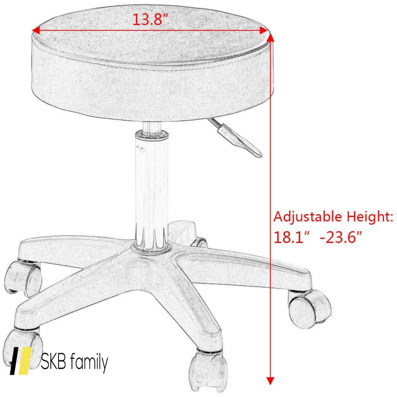1 Pc Adjustable Hydraulic Rolling Swivel Spa Beauty Bar Stool 200815-23773