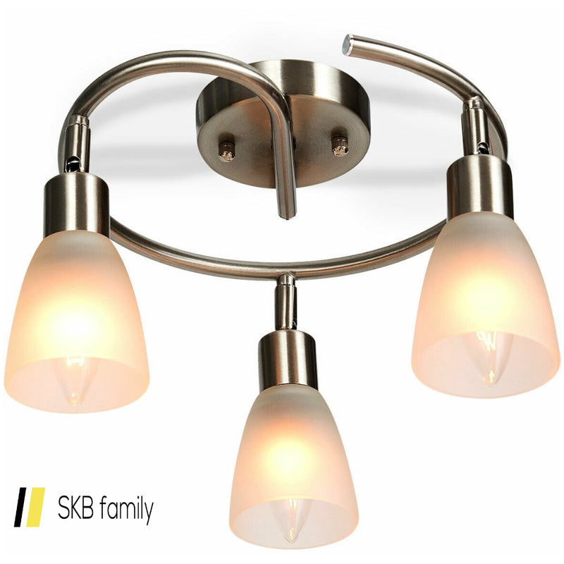 3-Light Rotatable Glass Shade Chandelier Ceiling Lamp 200815-23781