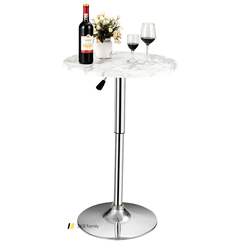 Round Height Adjustable Bistro Bar Table 200815-23792