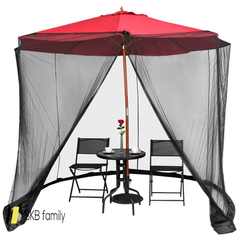 9' To 10' Outdoor Umbrella Table Screen Mosquito Bug Insect Net 200815-23803