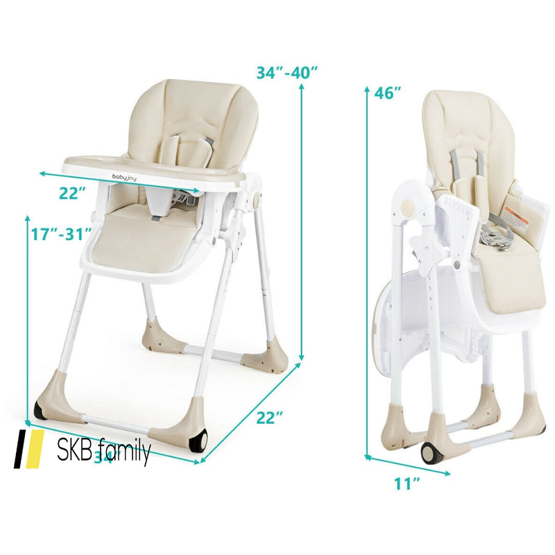 Baby Convertible High Chair With Wheels 200815-23824