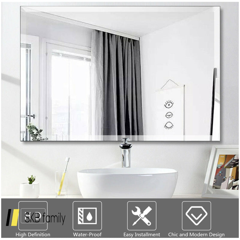 "24"" X 36"" Rectangle Wall Mounted Bathroom Beveled Mirror 200815-23830"