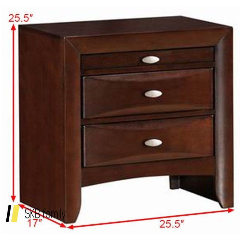 3 Drawers Modern Storage Nightstand End Beside Table 200815-23905