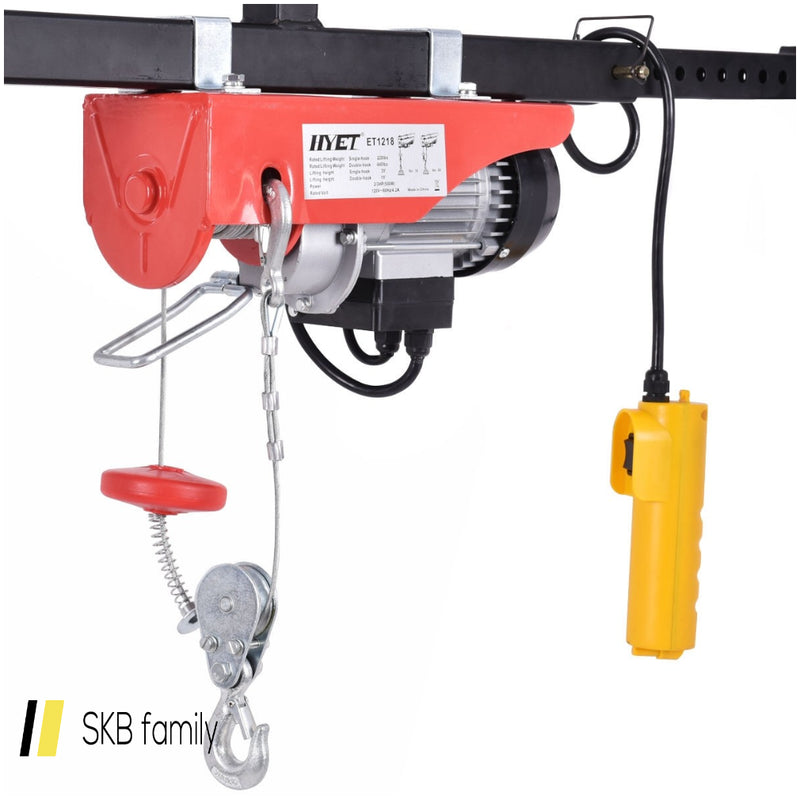 440 Lbs Mini Electric Wire Hoist With Remote Control 200815-23911