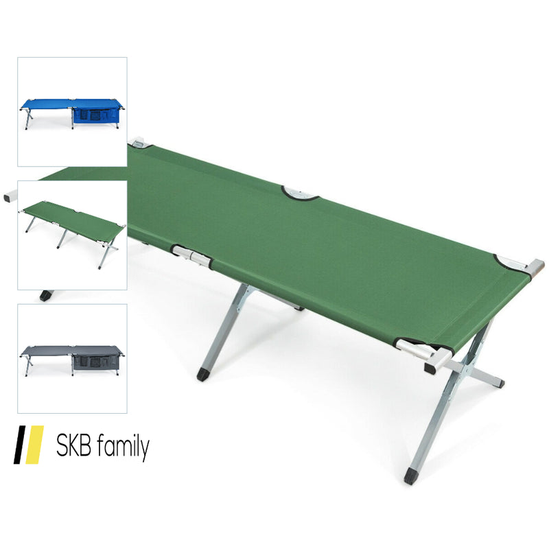 Folding Camping Cot Heavy-Duty Camp Bed With Carry Bag 200815-23937