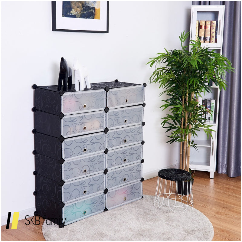 12 Cubes Portable Shoe Rack 200815-23946