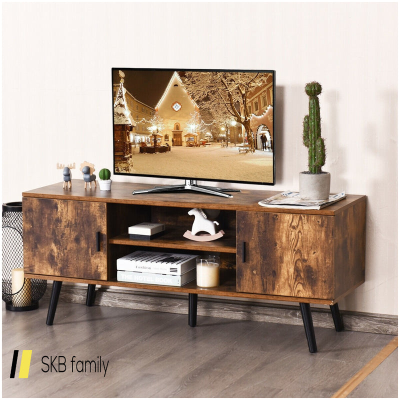 Industrial Tv Stand With Storage Cabinets 200815-23949