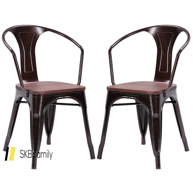 Set Of 2 Tolix Style Armchair 200815-23981
