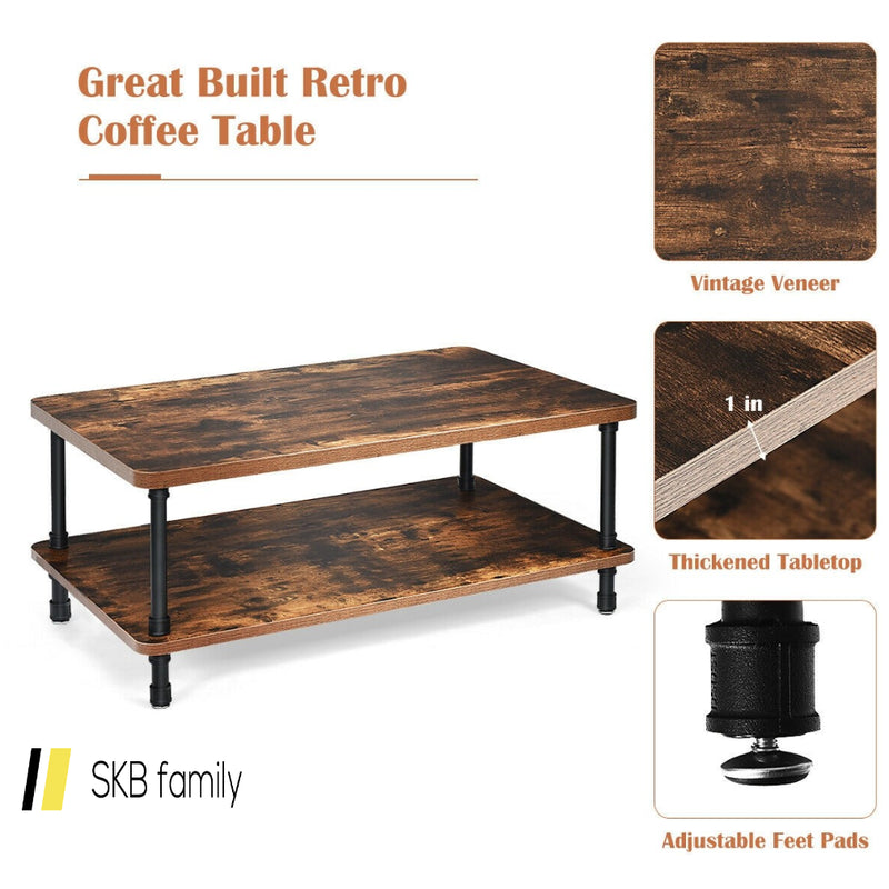 Industrial Rustic Accent Coffee Table 200815-23985