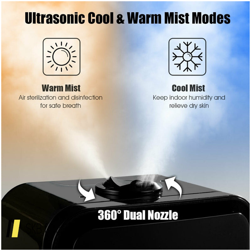 4.5l Ultrasonic Cool Warm Humidifier With Remote Control 200815-23991