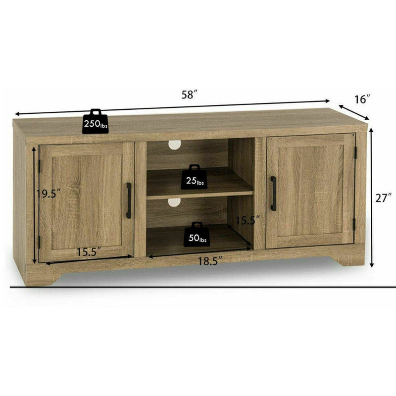 Rustic Tv Stand Entertainment Center Storage Cabinet 200815-24013