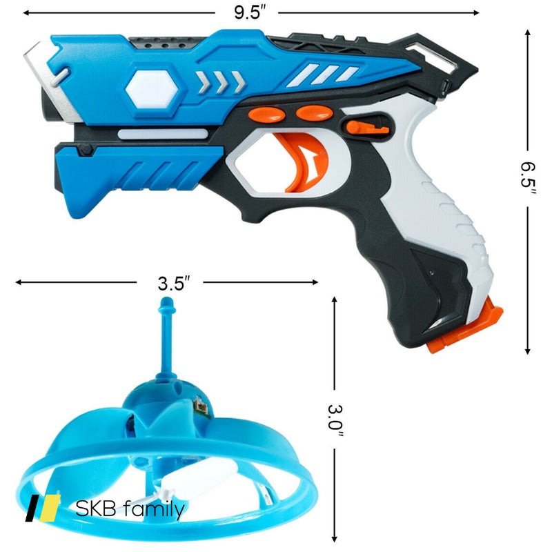 Infrared Laser Tag Guns With Flying Saucers Battle Blasters Game 200815-24043