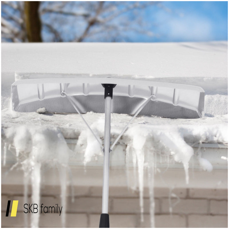 21 Ft Aluminum Large Poly Blade Telescoping Snow Roof Rake 200815-24202