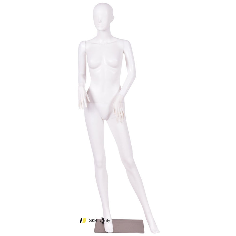 5.8 Ft Female Mannequin Manikin With Metal Stand Plastic Full Body Mannequin White 200815-24211