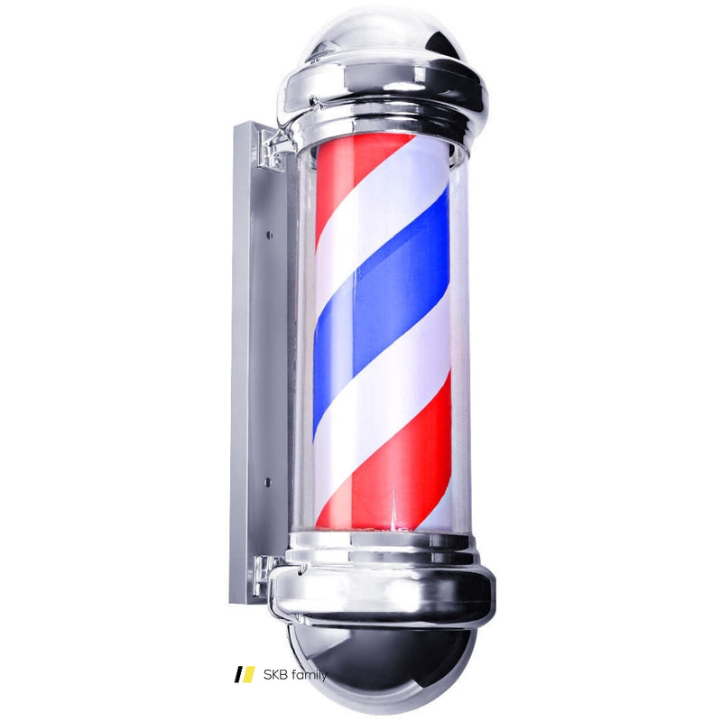 "30"" Barber Shop Pole Red White Blue Rotating Light 200815-24269"