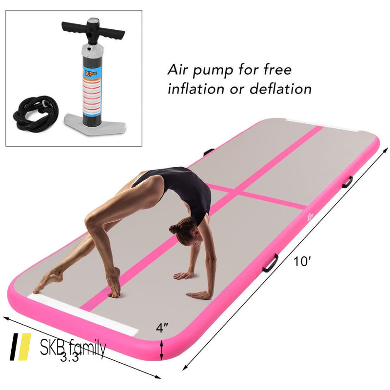 Air Track Inflatable Gymnastics Tumbling Floor Mats With Pump 200815-24279