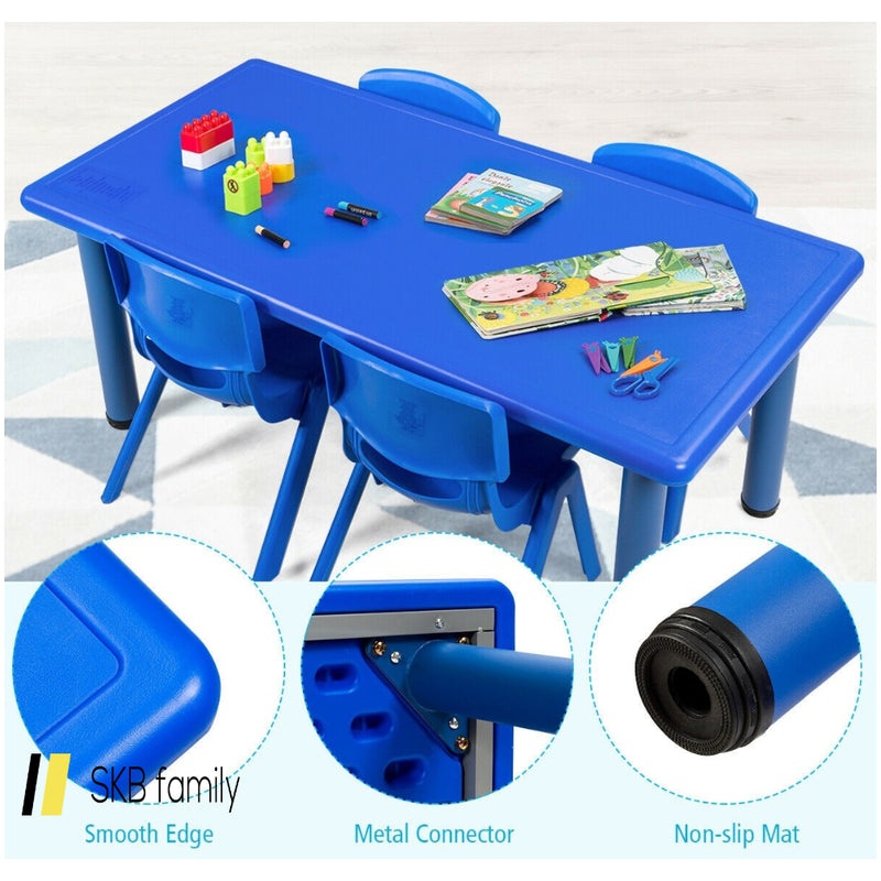 Kids Plastic Rectangular Learn And Play Table 200815-24301