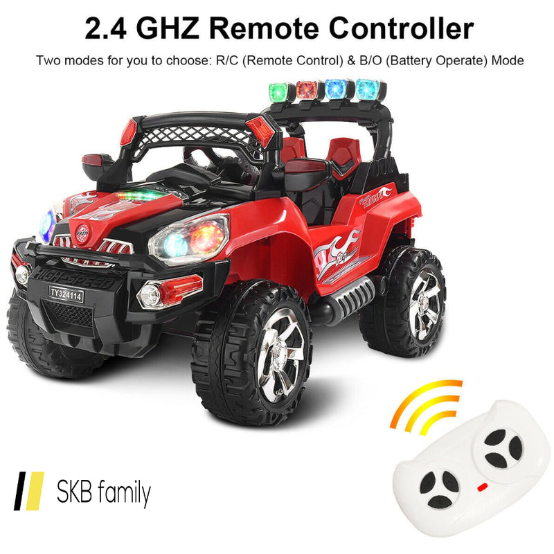 12 V Kids Ride On Suv Car With Remote Control Led Lights 200815-24307