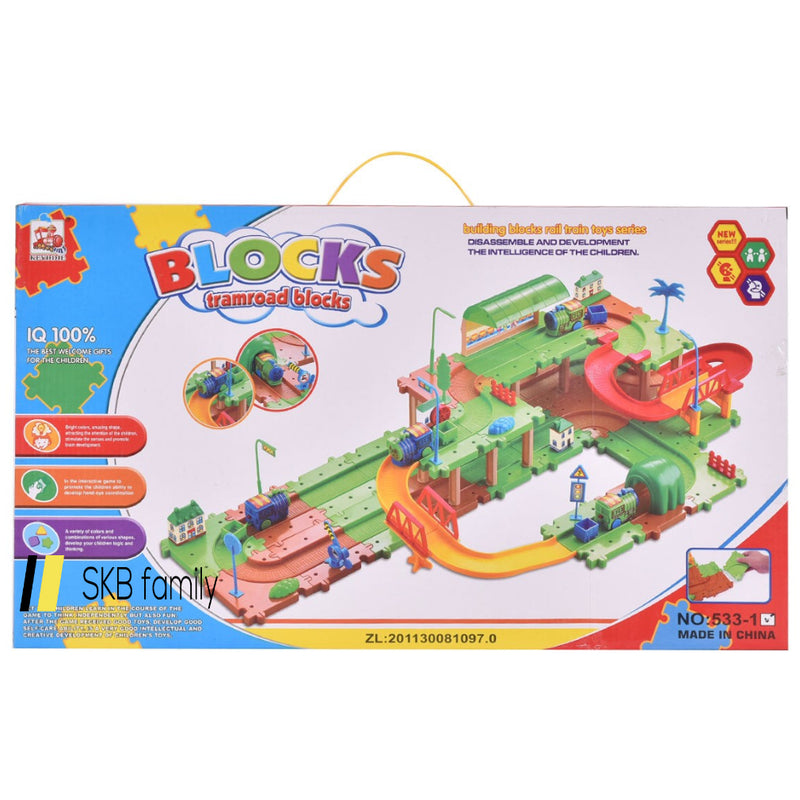 71 Pcs Railway Train Building Blocks Brick Toy 200815-24326