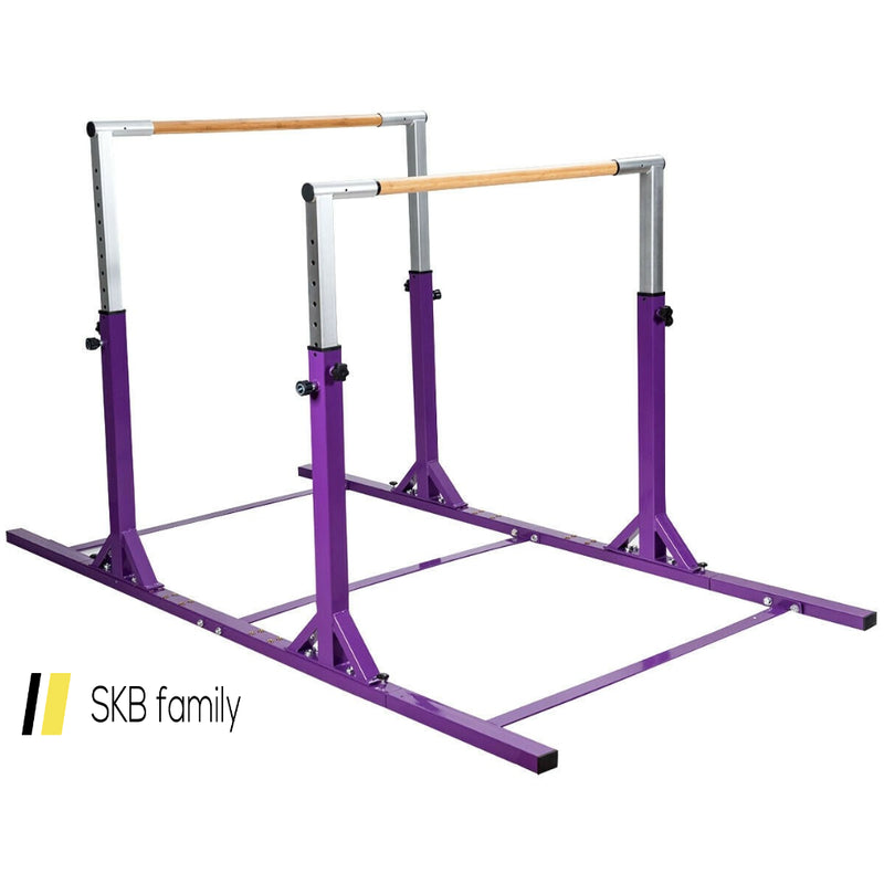 Kids Double Horizontal Bars Gymnastic Training Parallel Bars Adjustable 200815-24331