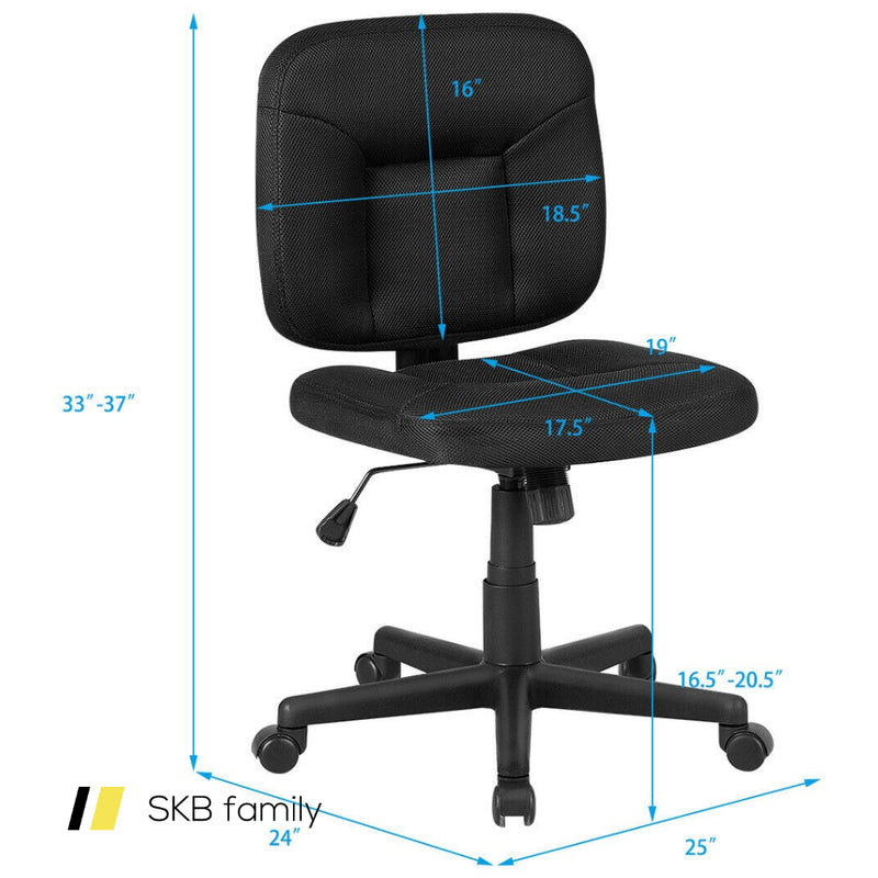 Low-Back Office Chair With Adjustable Height & Lumbar Support 200815-24337
