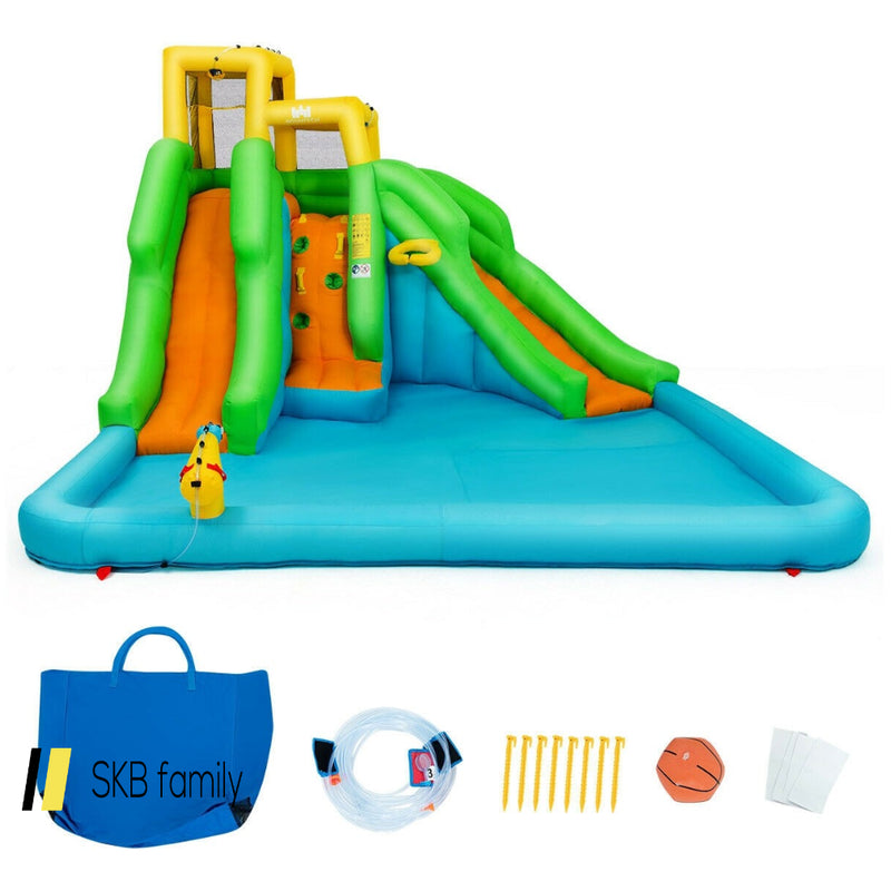 Inflatable Water Park Bounce House With Climbing Wall 200815-24345