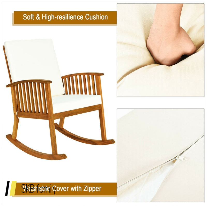 Outdoor Acacia Garden Wood Rocking Chair 200815-24360