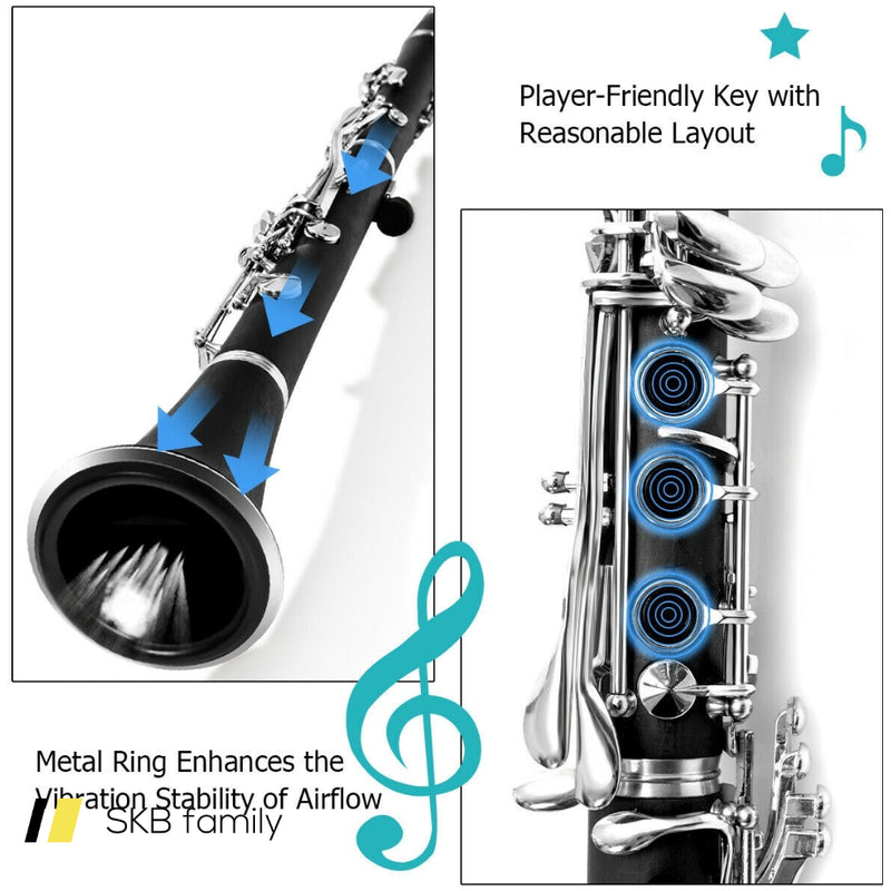 Professional Bb Clarinet Black Musical Instruments 200815-24362