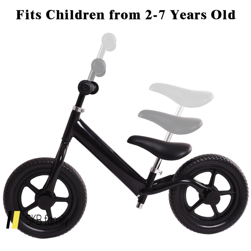 "Black/Pink/Blue 12"" Balance Kids No-Pedal Learning Bicycle 200815-24375"