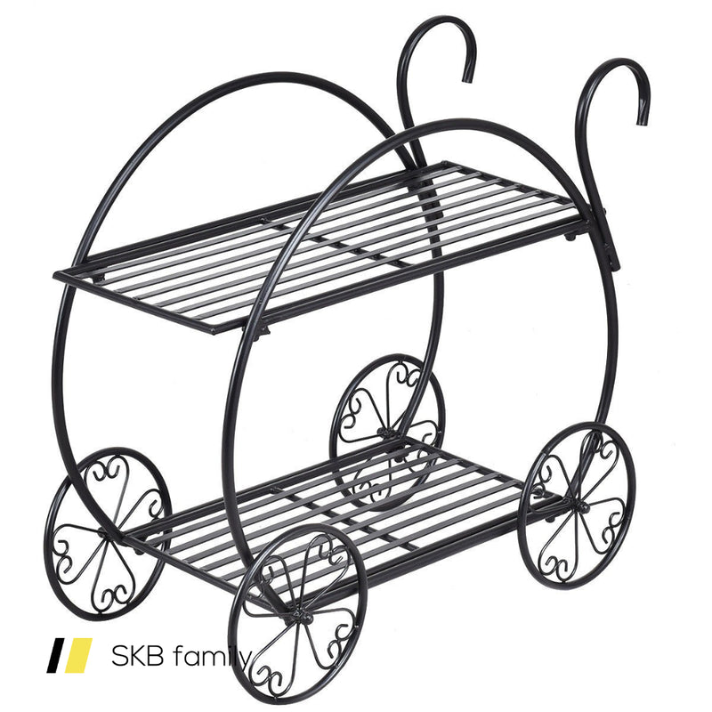 Heavy Duty Metal Flower Cart Plant Stand 200815-24378