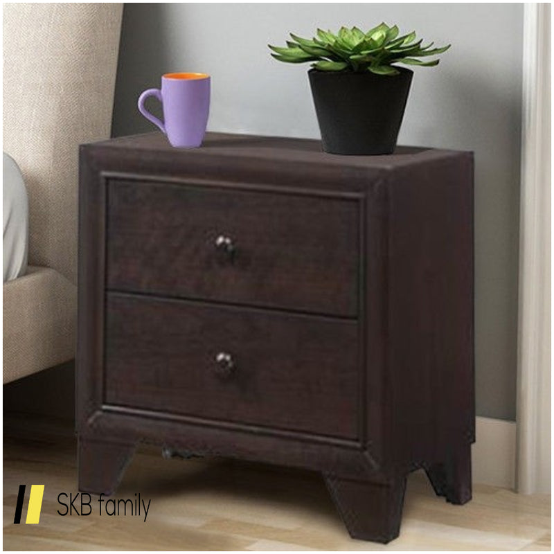 2 Drawers Sofa Beside Storage Organizer Nightstand 200815-24381
