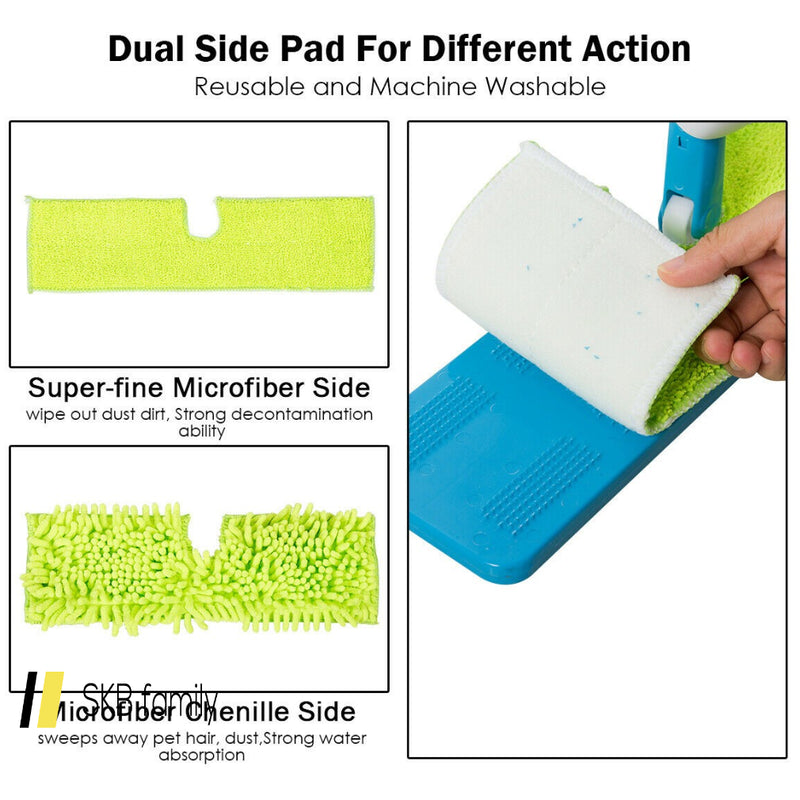 Double Sided Flip Spray Mop With Refillable Bottle And Washable Pads 200815-24395