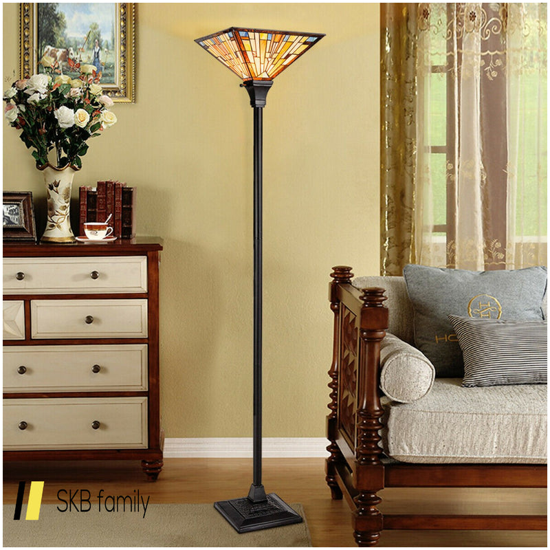 "1-Light Torchiere Floor Lamp With 14"" Lampshade 200815-24411"