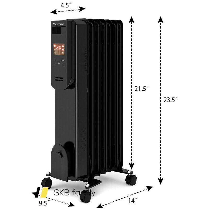 1500w Lcd Electric Radiator Heater W/ Remote Control 200815-24419
