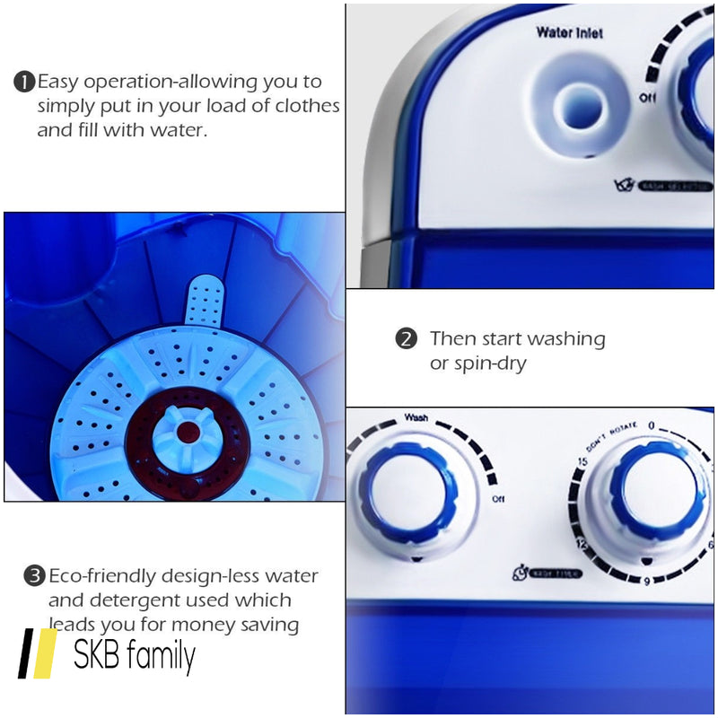 Mini Electric Compact Portable Durable Laundry Washing Machine Washer 200815-24425