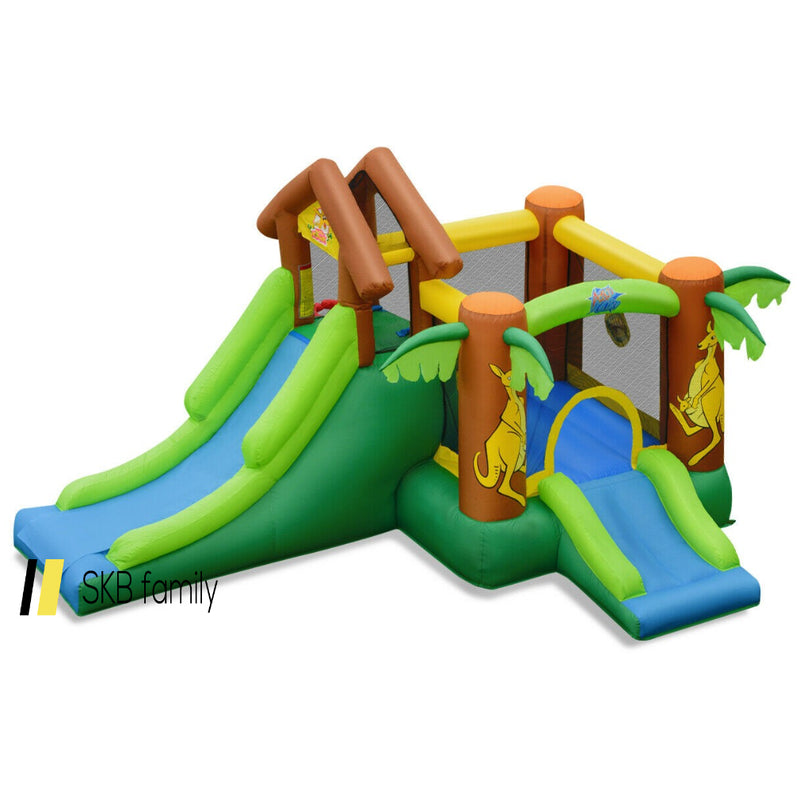 Kids Inflatable Jungle Bounce House Castle With Bag 200815-24429