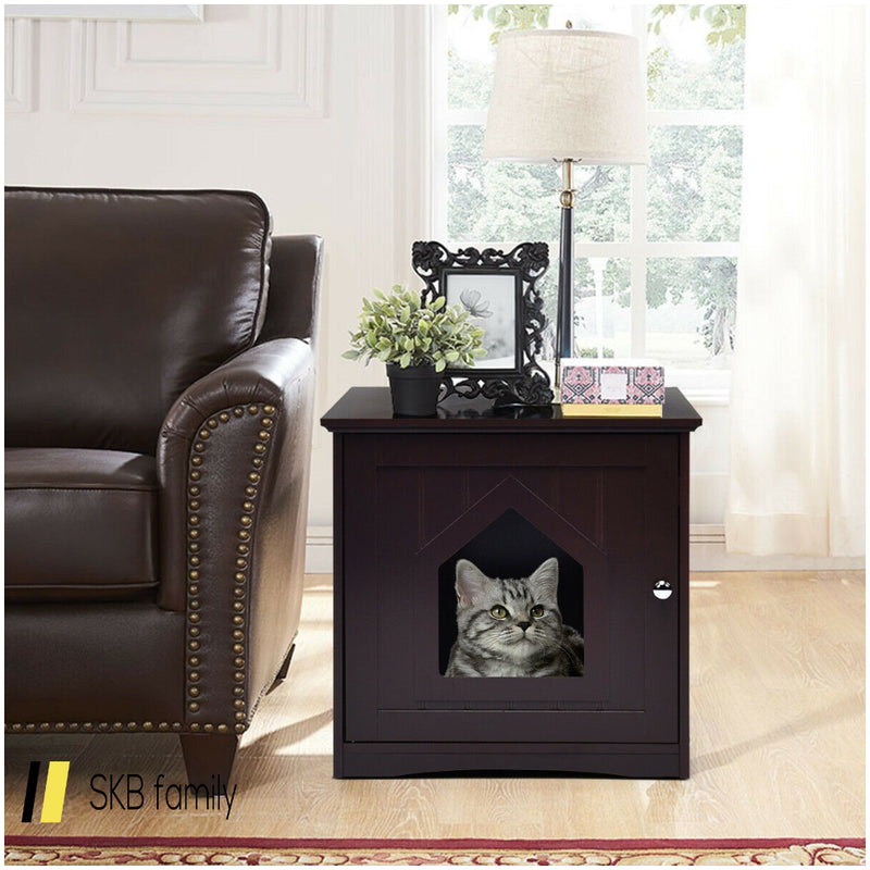 Sidetable Nightstand Weatherproof Multi-Function Cat House 200815-24432