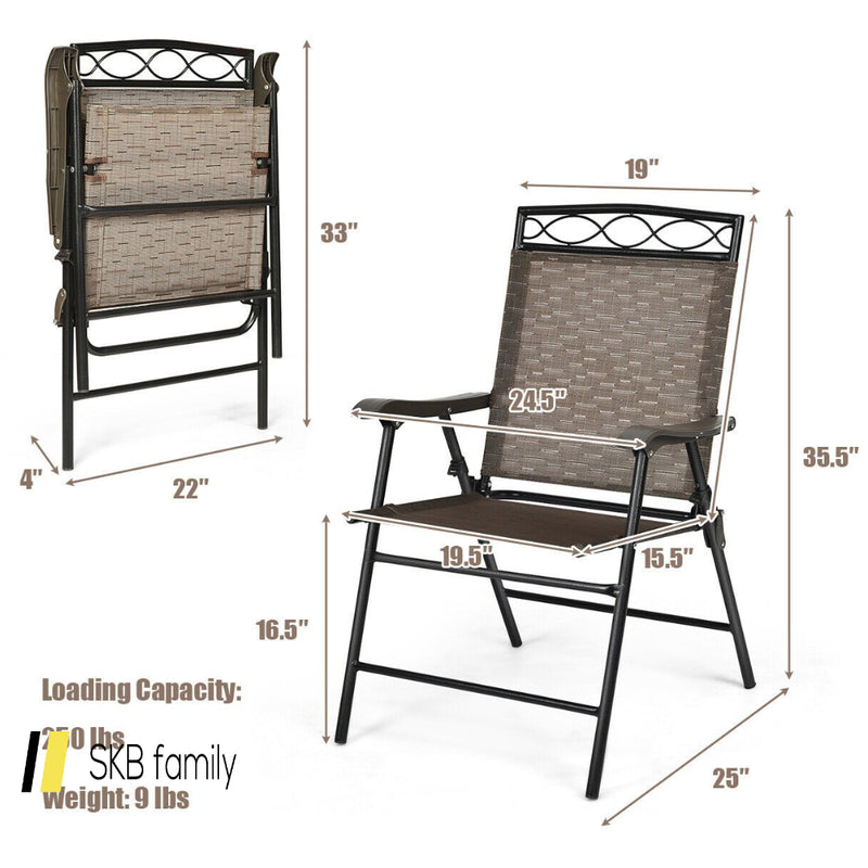 Set Of 4 Patio Folding Chairs 200815-24443