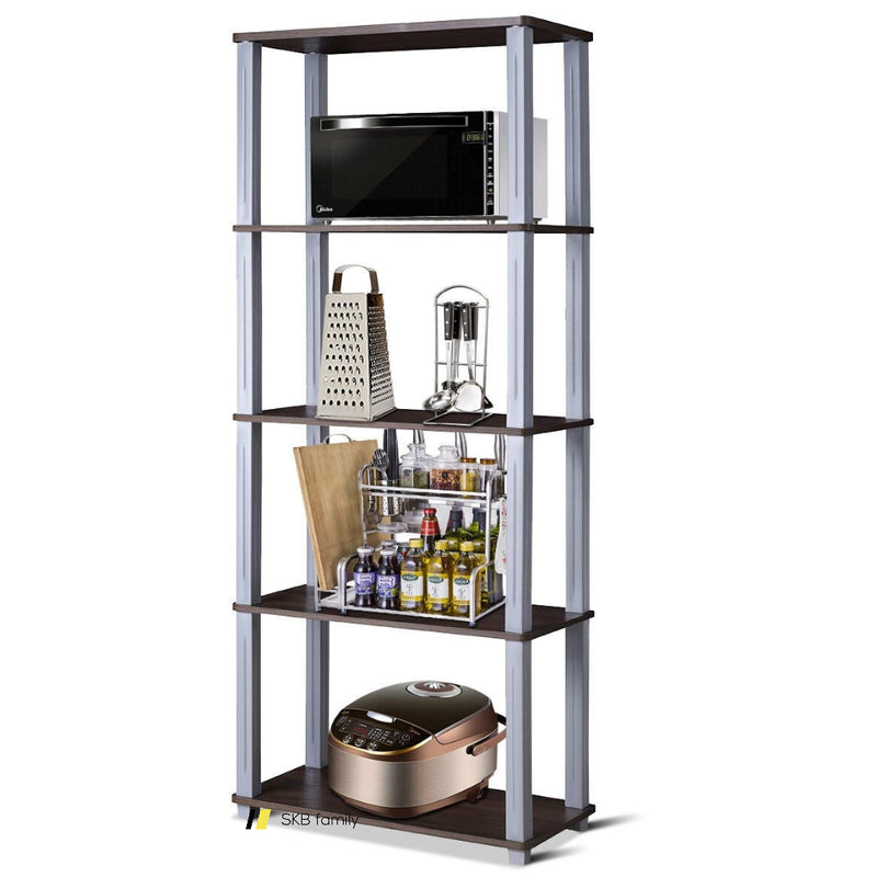5-Tier Multi-Functional Storage Shelves Rack Display Bookcase 200815-24456