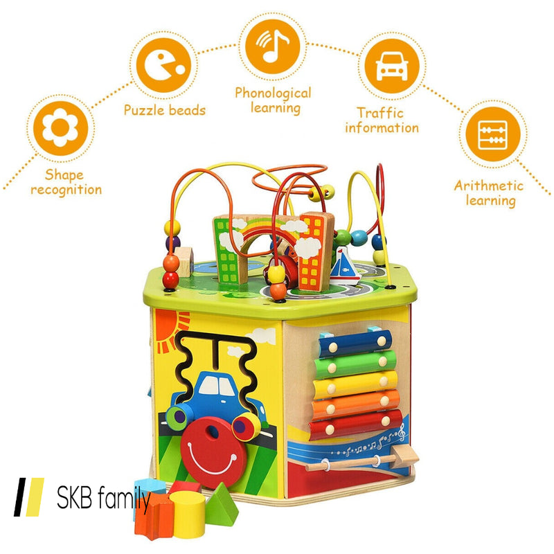 7-In-1 Wooden Activity Cube Toy 200815-24463