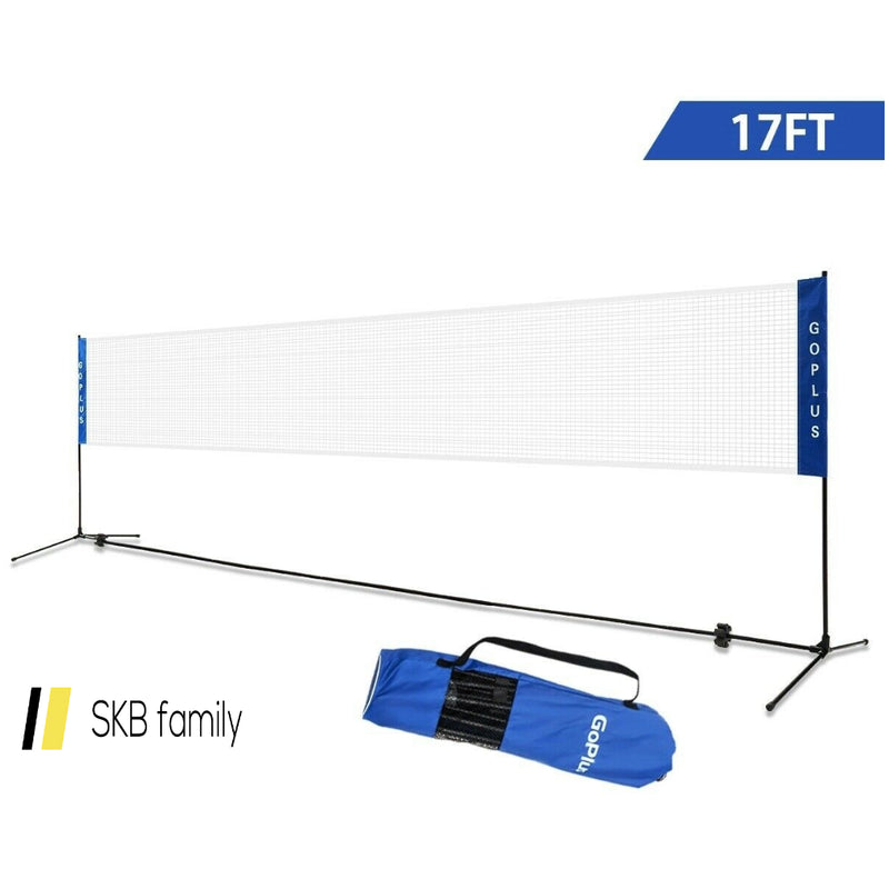 Portable 17'X5' Badminton Training Net With Carrying Bag 200815-24487