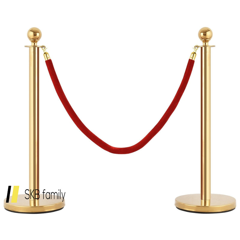 Red Crowd Control Rope With Velvet Rope 200815-24493