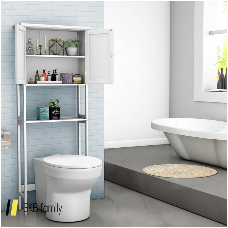 Over The Toilet Bathroom Storage Space Saver With Shelf 200815-24494