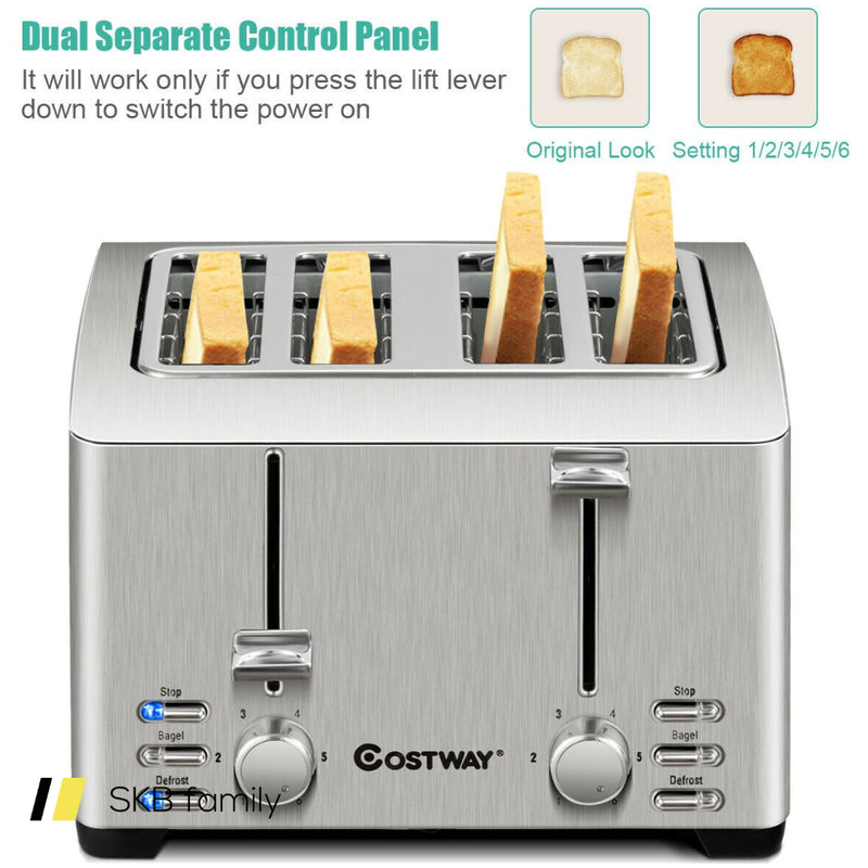 Extra-Wide Slot Stainless Steel 4 Slice Toaster 200815-24499