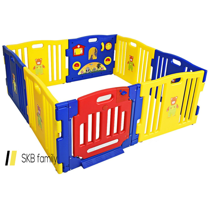Baby Playpen Kids 8 Panel Safety Play Center Yard 200815-24501